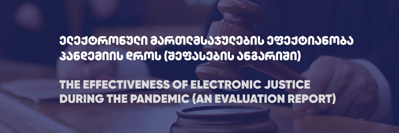 ელექტრონული მართლმსაჯულების ეფექტიანობა პანდემიის დროს (შეფასების ანგარიში)